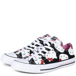 """Converse """"Hello Kitty"""" Sneakers - Girl's Size 12"""